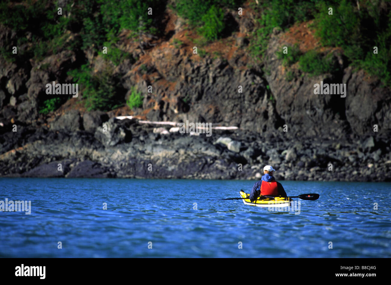 Kayaking Seduction Point, Haines, Alaska - Stock Image