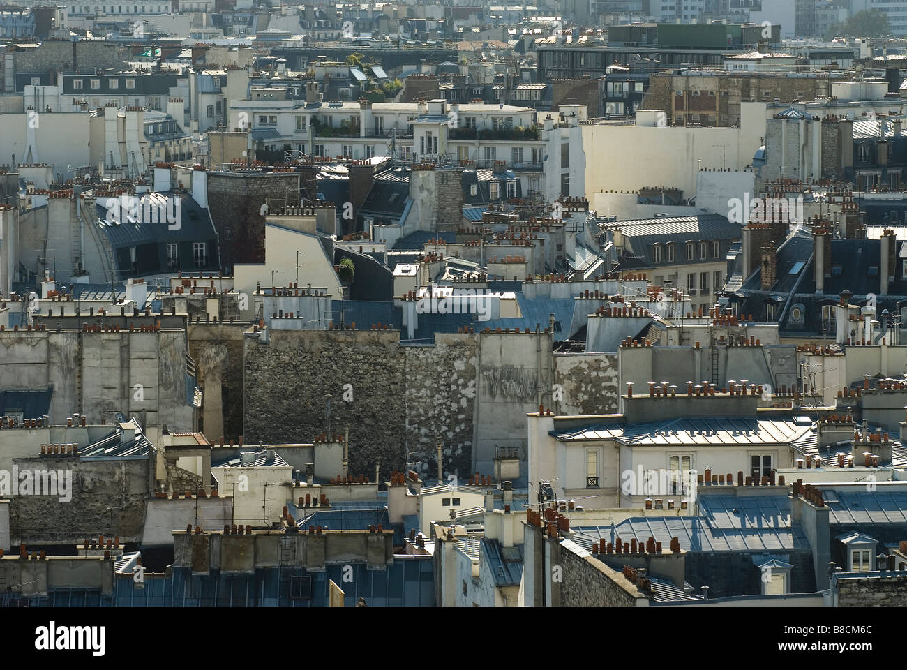 toits  de Paris  France Stock Photo