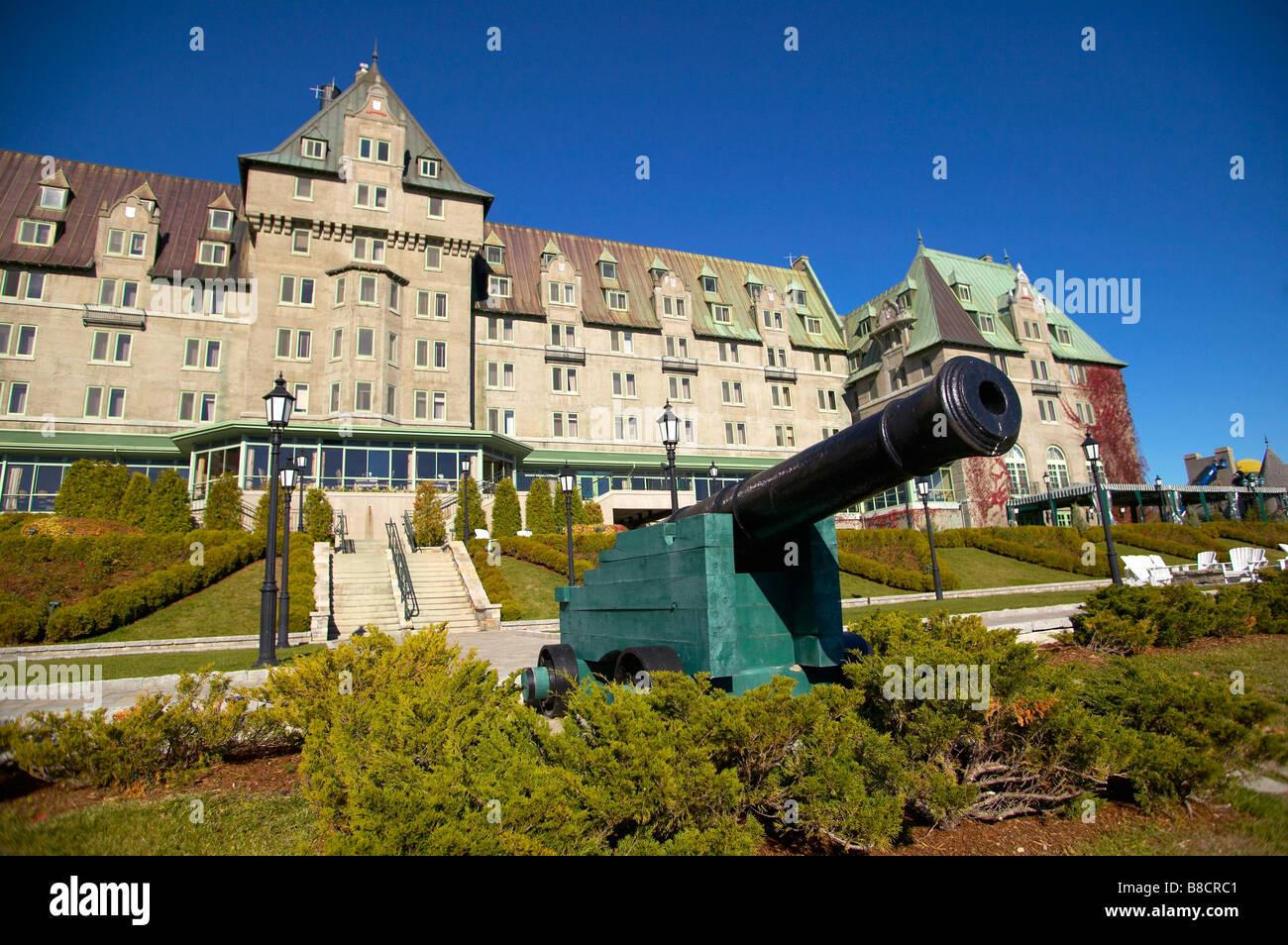 Le Manoir Richelieu Hotel  La Malbaie  Quebec Stock Photo