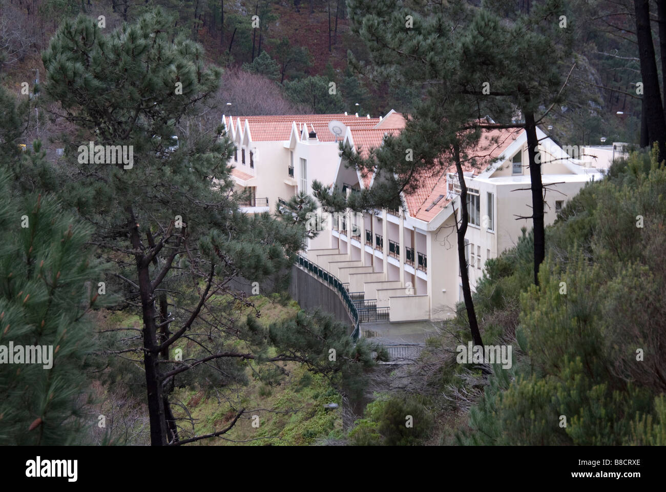Estalagem Eira do Serrado, Funchal, Madeira, Portugal,from the path up to the viewpoint above Curral das Freiras - Stock Image
