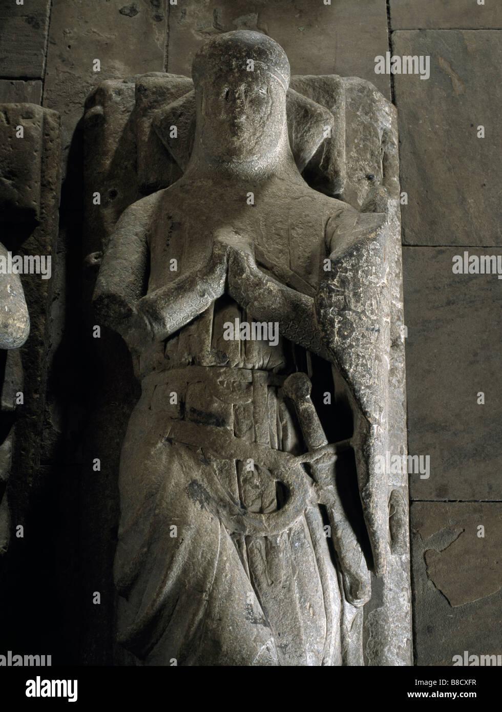 Hexham Abbey Umbraville Effigy - Stock Image