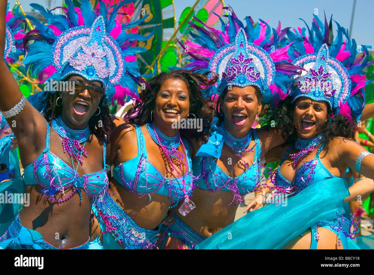 Parade Dancers, Caribana, Toronto,Ontario Stock Photo