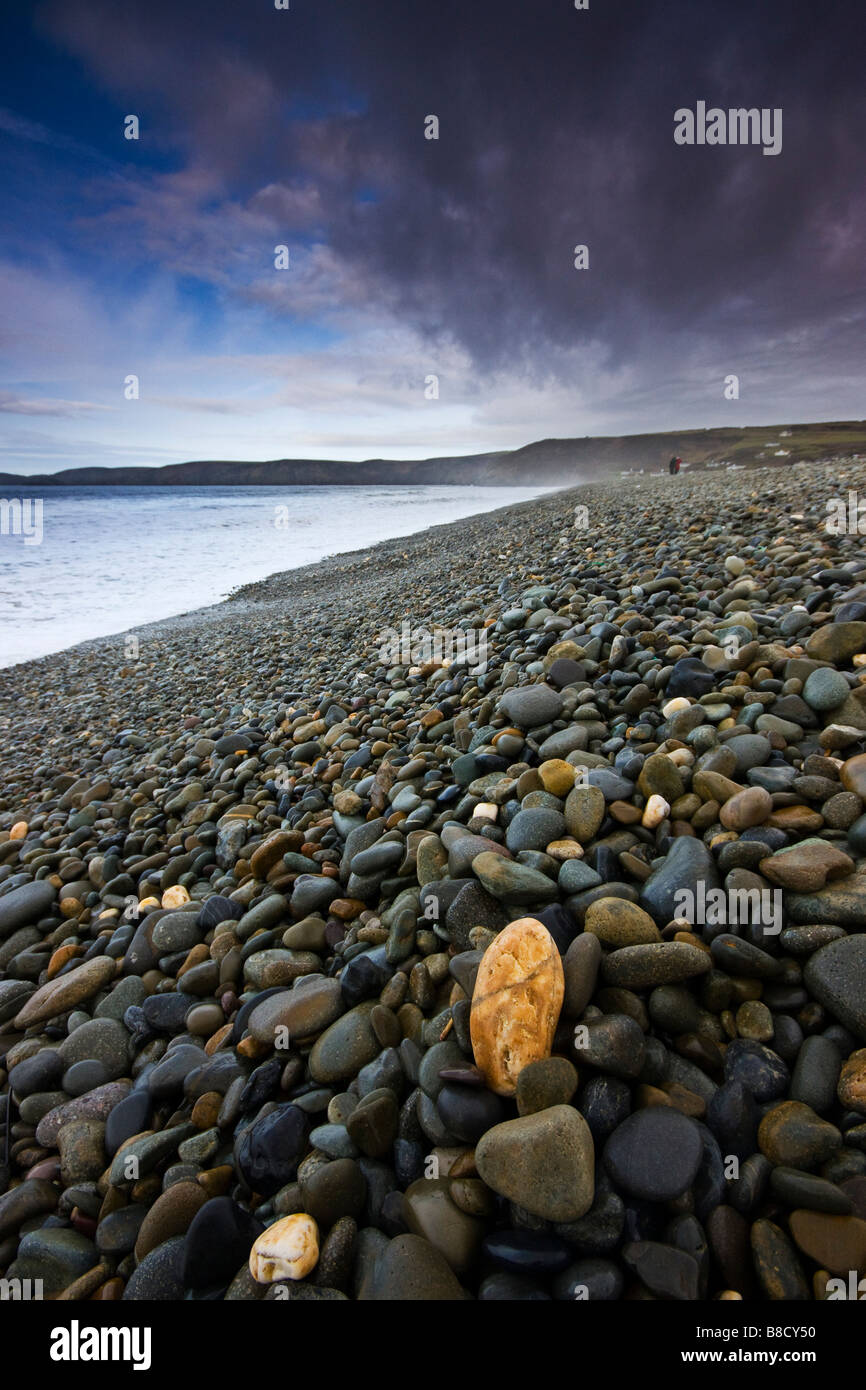 Pebbles on Newgale Beach Pembrokeshire - Stock Image