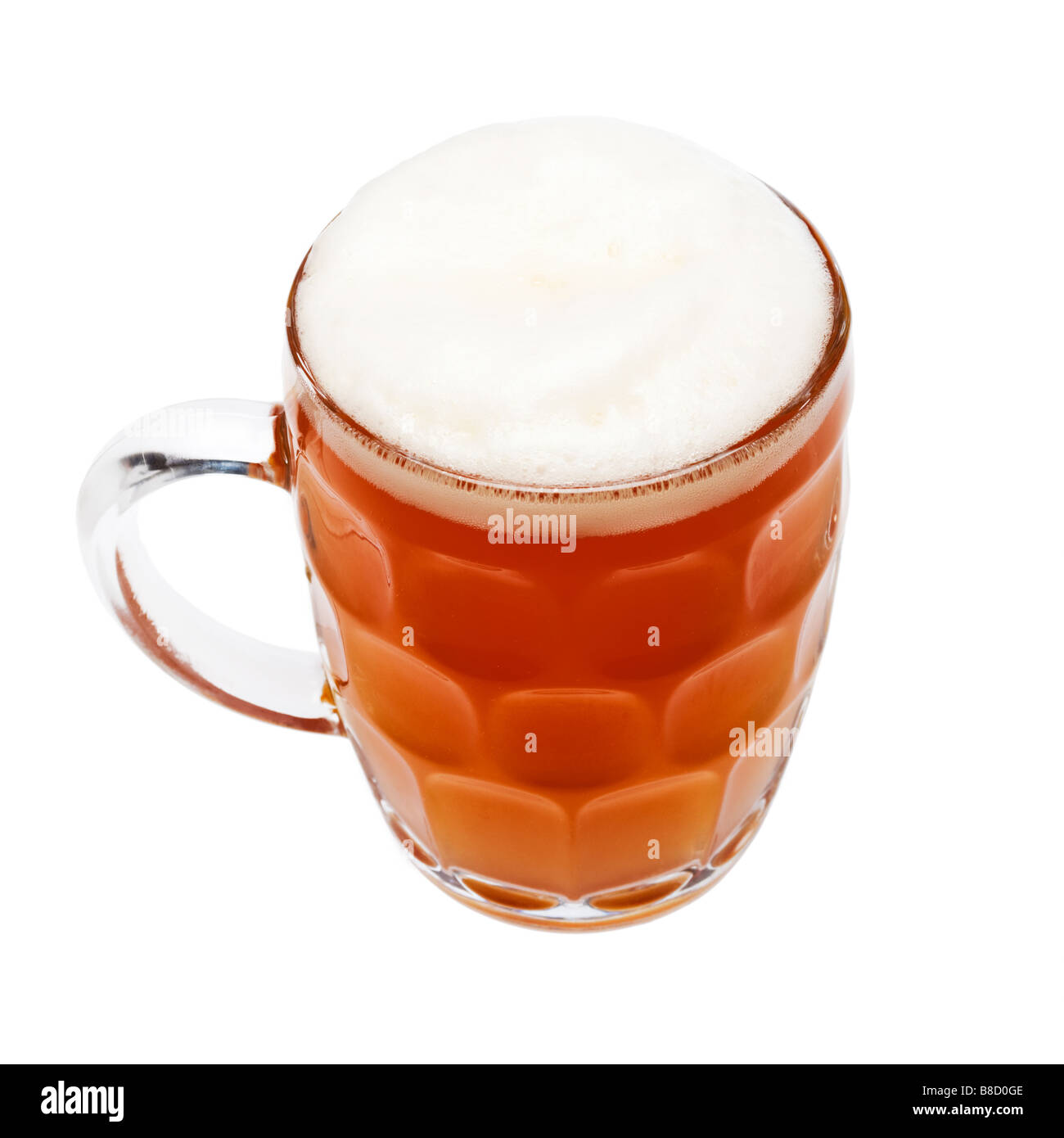 British pint of beer in a traditional Ale Jug - Stock Image