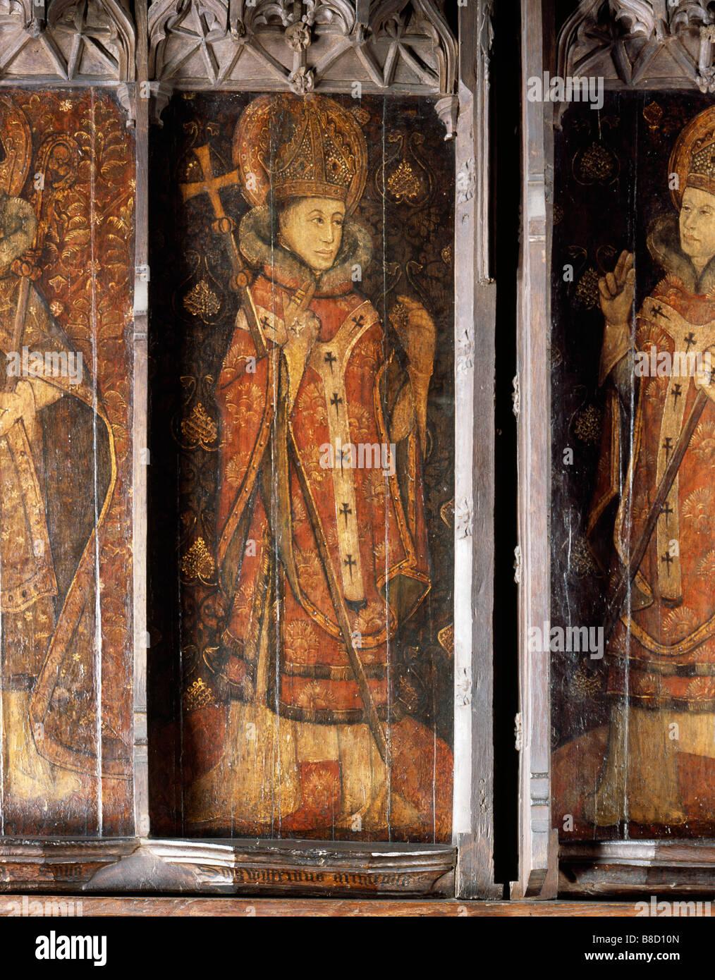 Hexham Abbey Reredos St Wilfrid - Stock Image