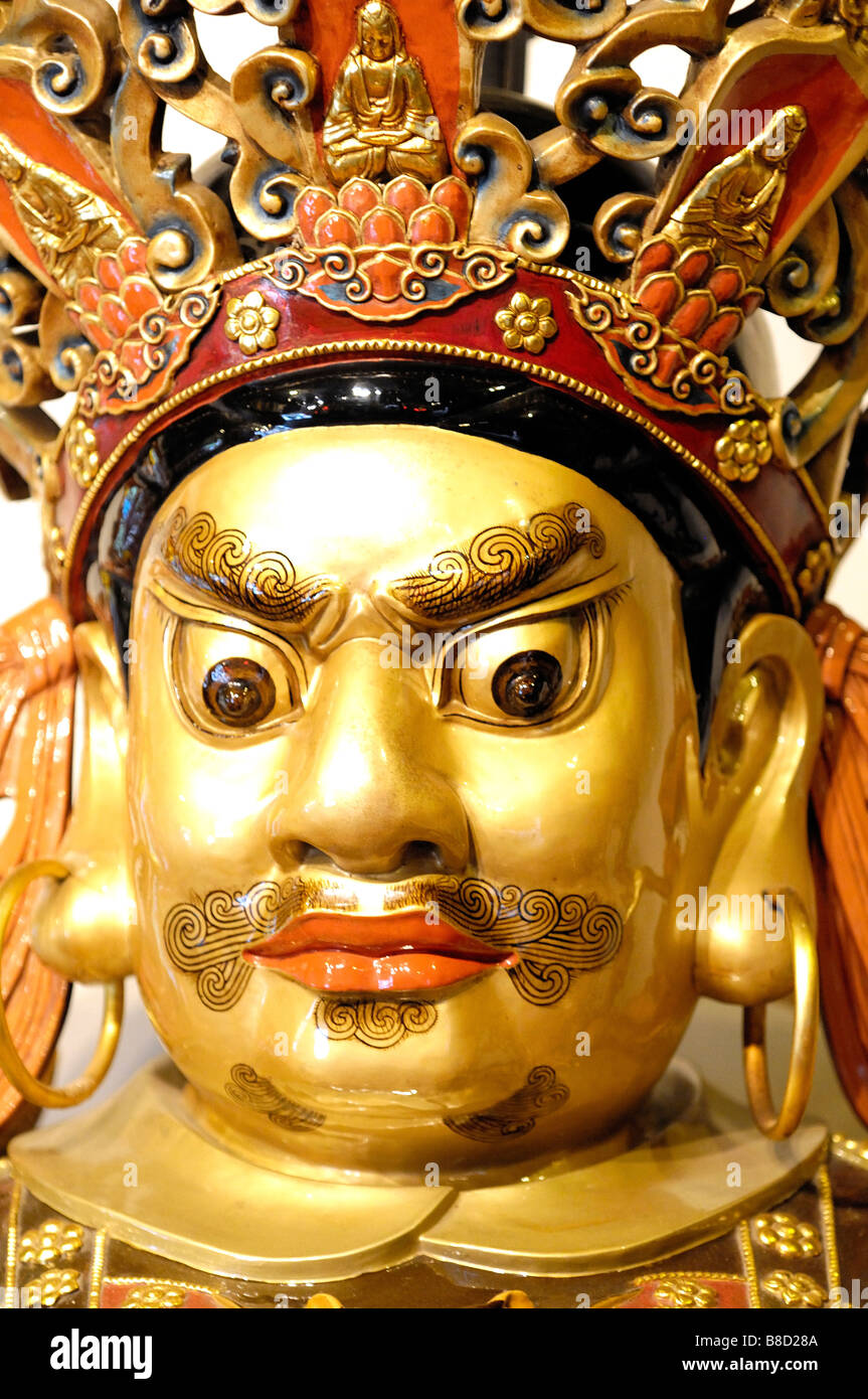 Statue at Po Lin Monastery Ngong Ping Lantau Island Hong Kong - Stock Image