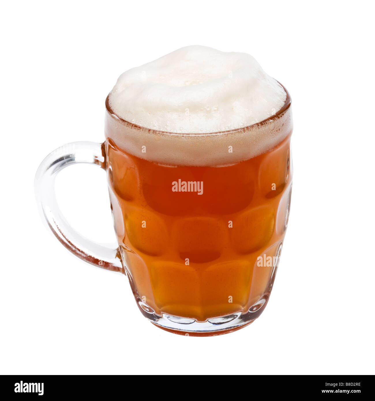 Pint of beer in a traditional glass tankard Stock Photo