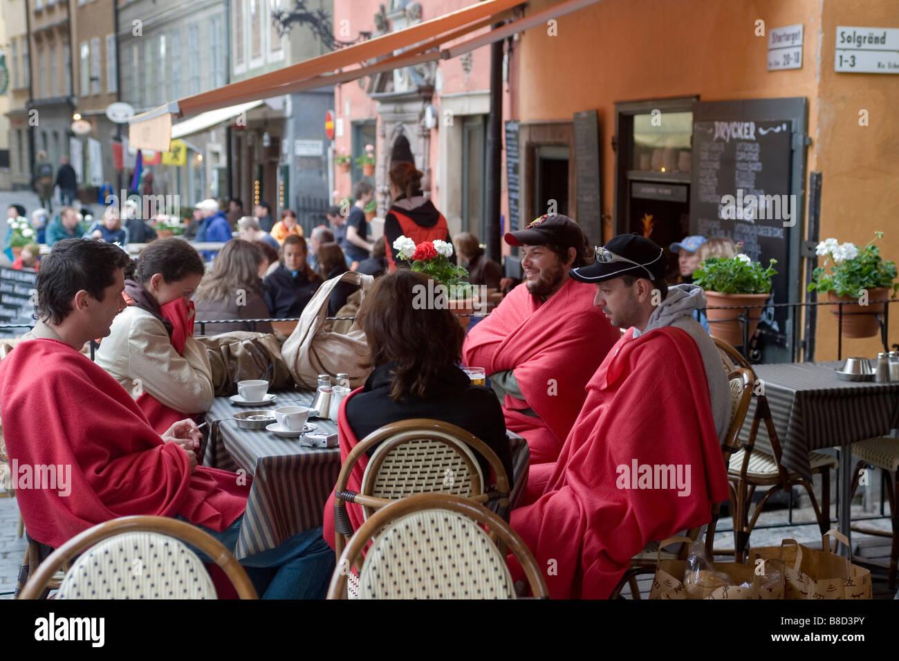 Polish tourists in Stockholm Sweden - Stock Image