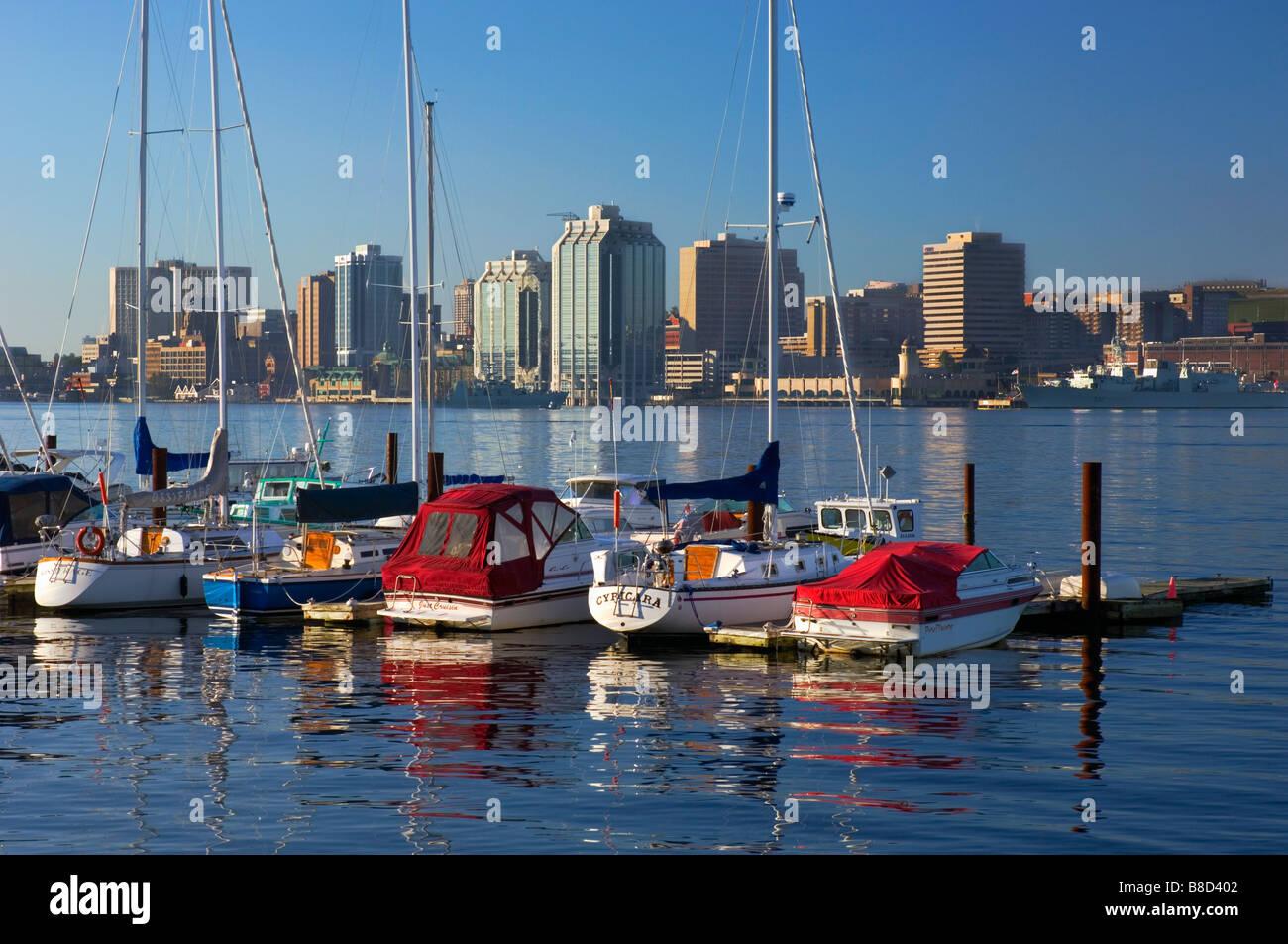 Marina Boats Early Morning, Halifax, Nova Scotia - Stock Image