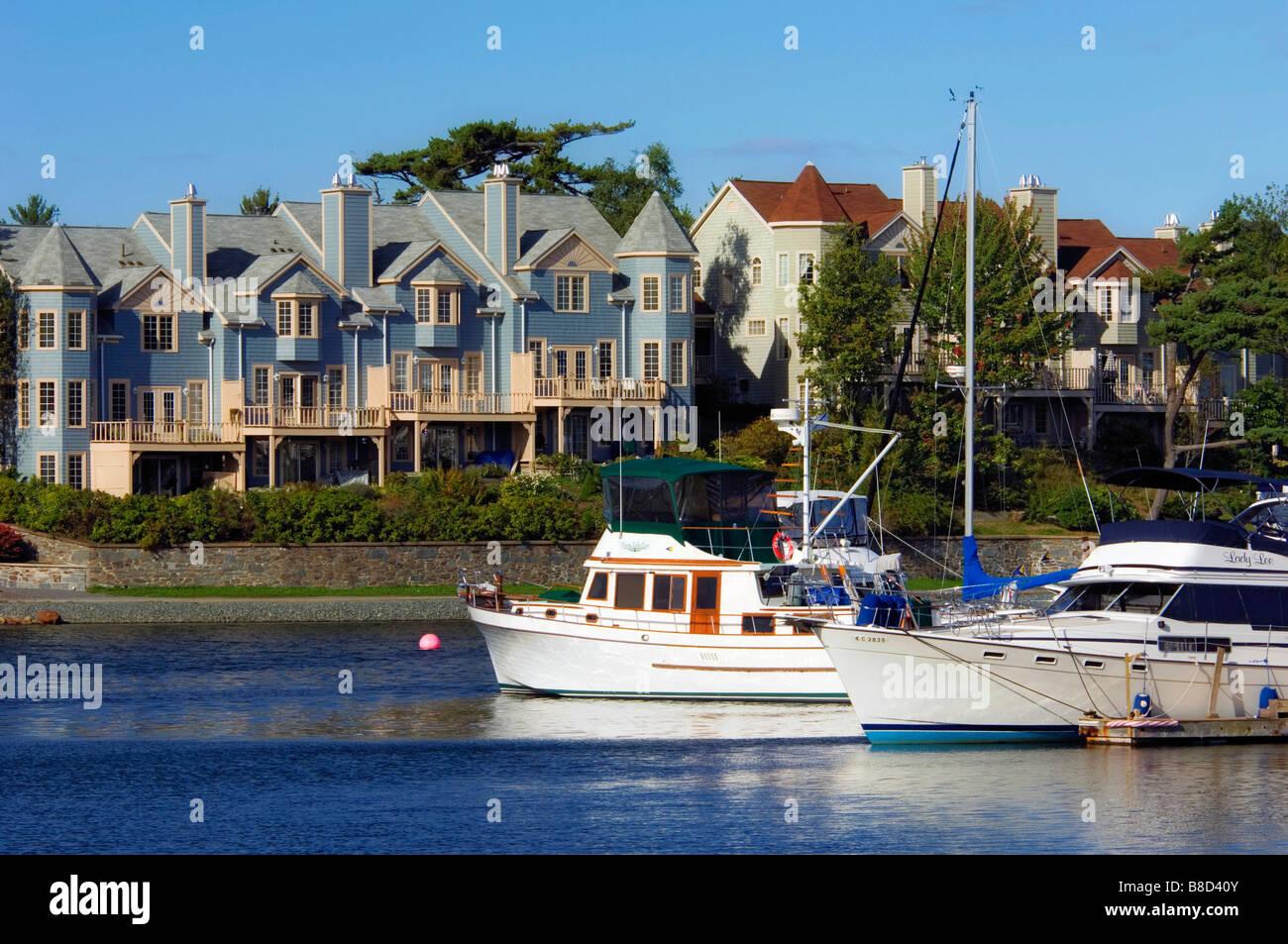 Armdale Yacht Club  Housing, Northwest Arm, Halifax, Nova Scotia - Stock Image