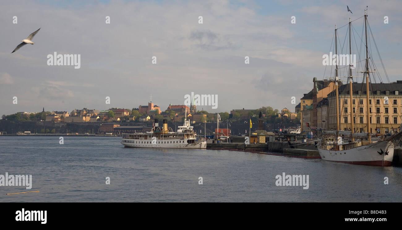 Port in Stockholm Sweden - Stock Image