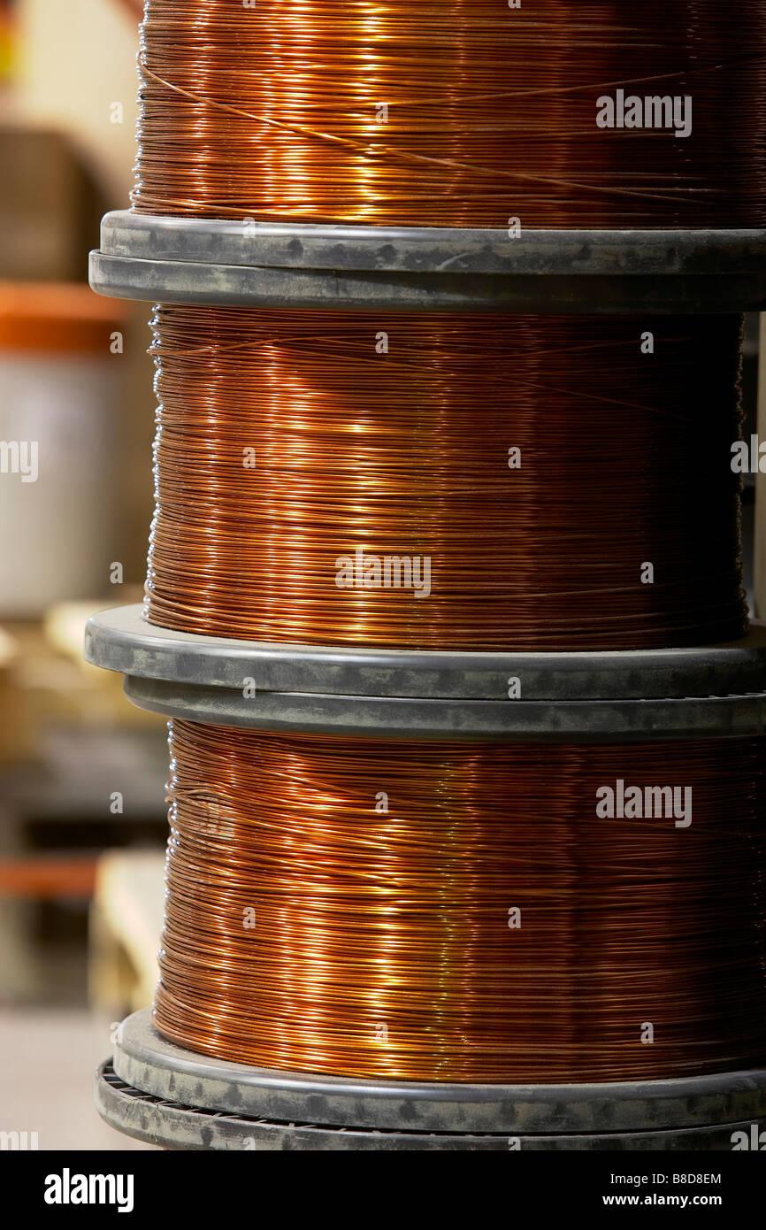 Copper Wire Spool   Copper Wire Spools Stock Photos Copper Wire Spools Stock Images