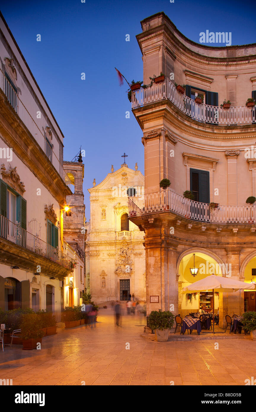 Piazza Immacolata with Chisea di San Martino, Martina Franca, Puglia, Italy. (NR) - Stock Image