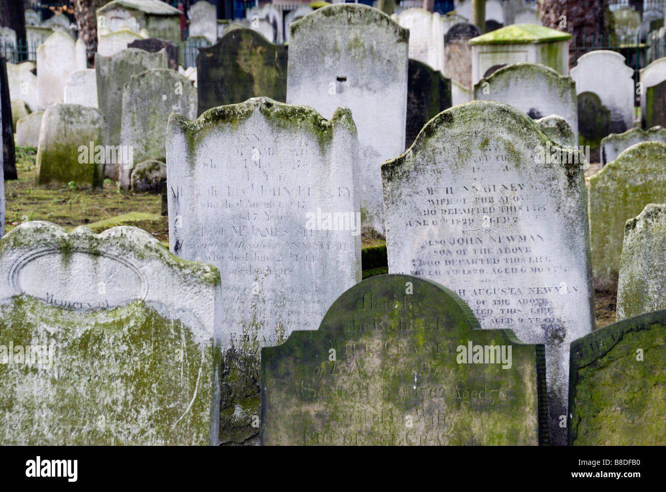 Bunhill Fields Cemetery City Road London England - Stock Image