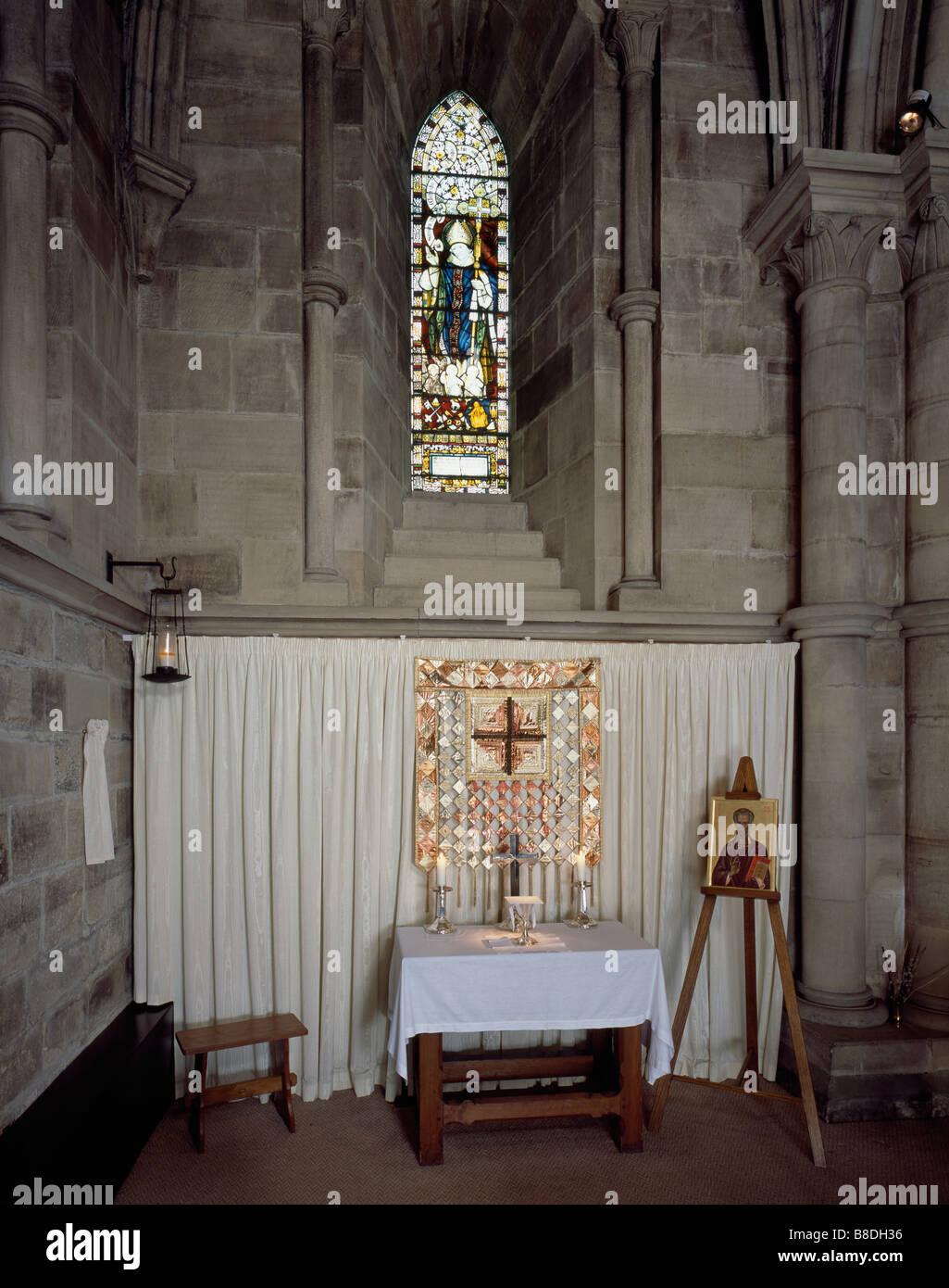 Hexham Abbey St Wilfrid Chapel - Stock Image