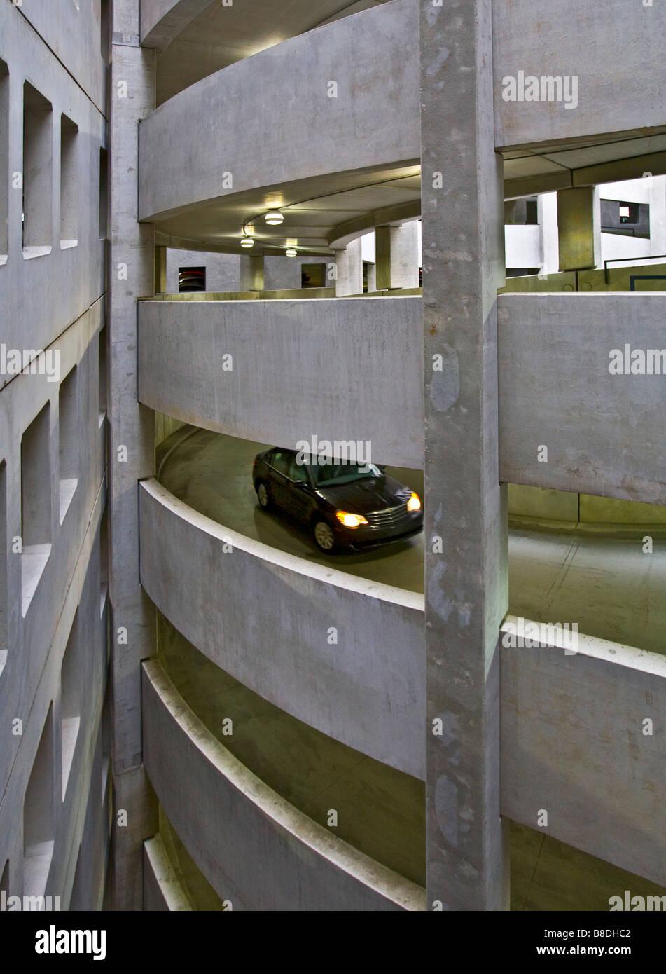 Detroit Michigan The parking garage at the Greektown Casino hotel - Stock Image