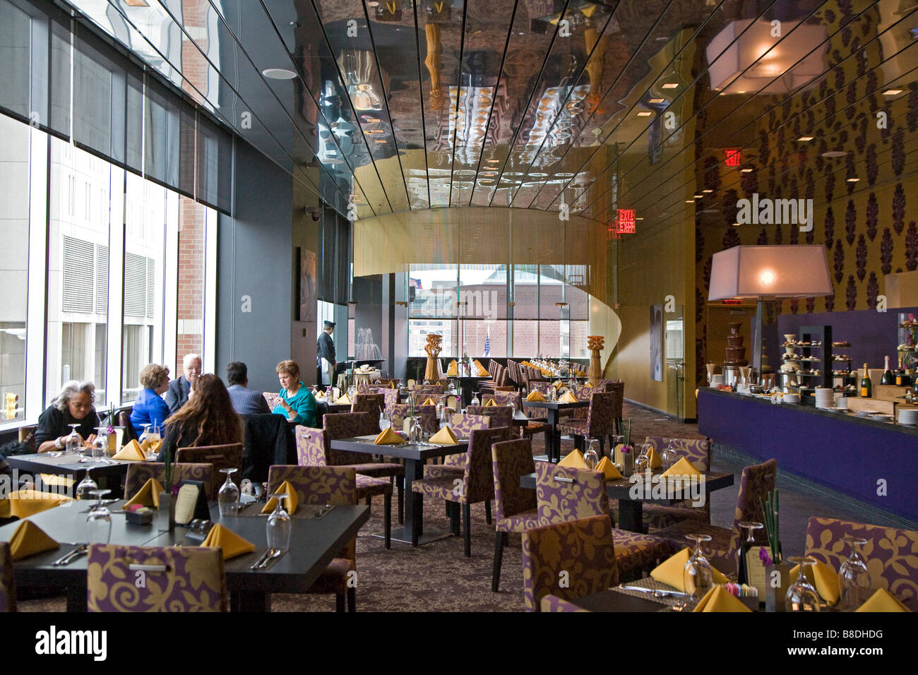 Detroit Michigan The Bistro 555 Restaurant In The Hotel At The Stock
