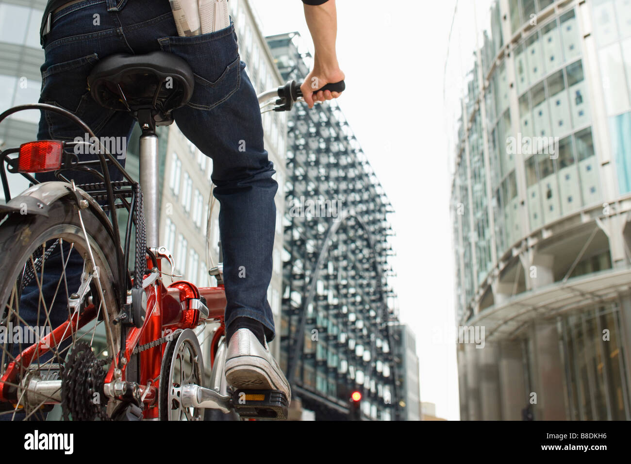 Cyclist in city - Stock Image