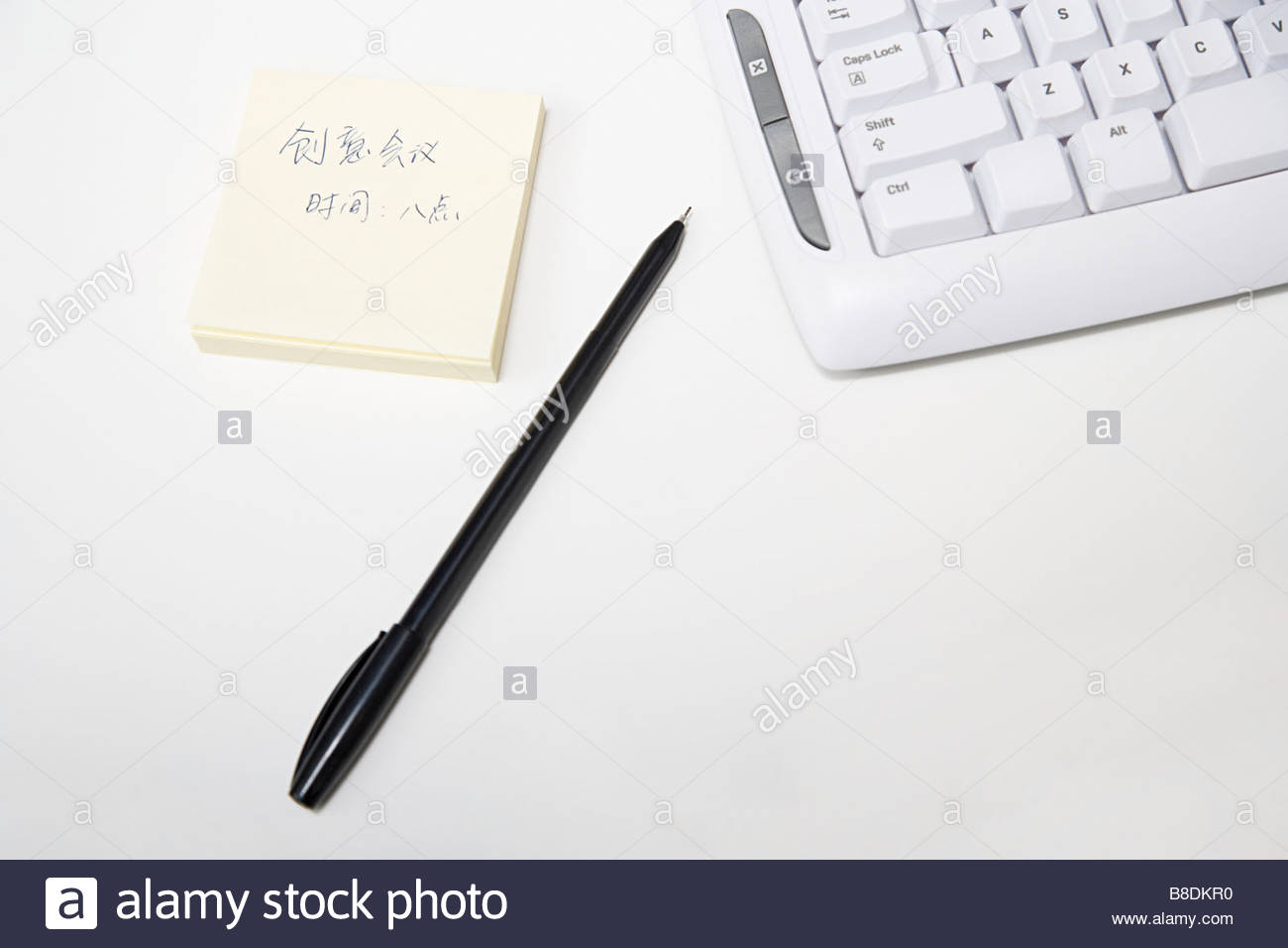 Note on desk - Stock Image