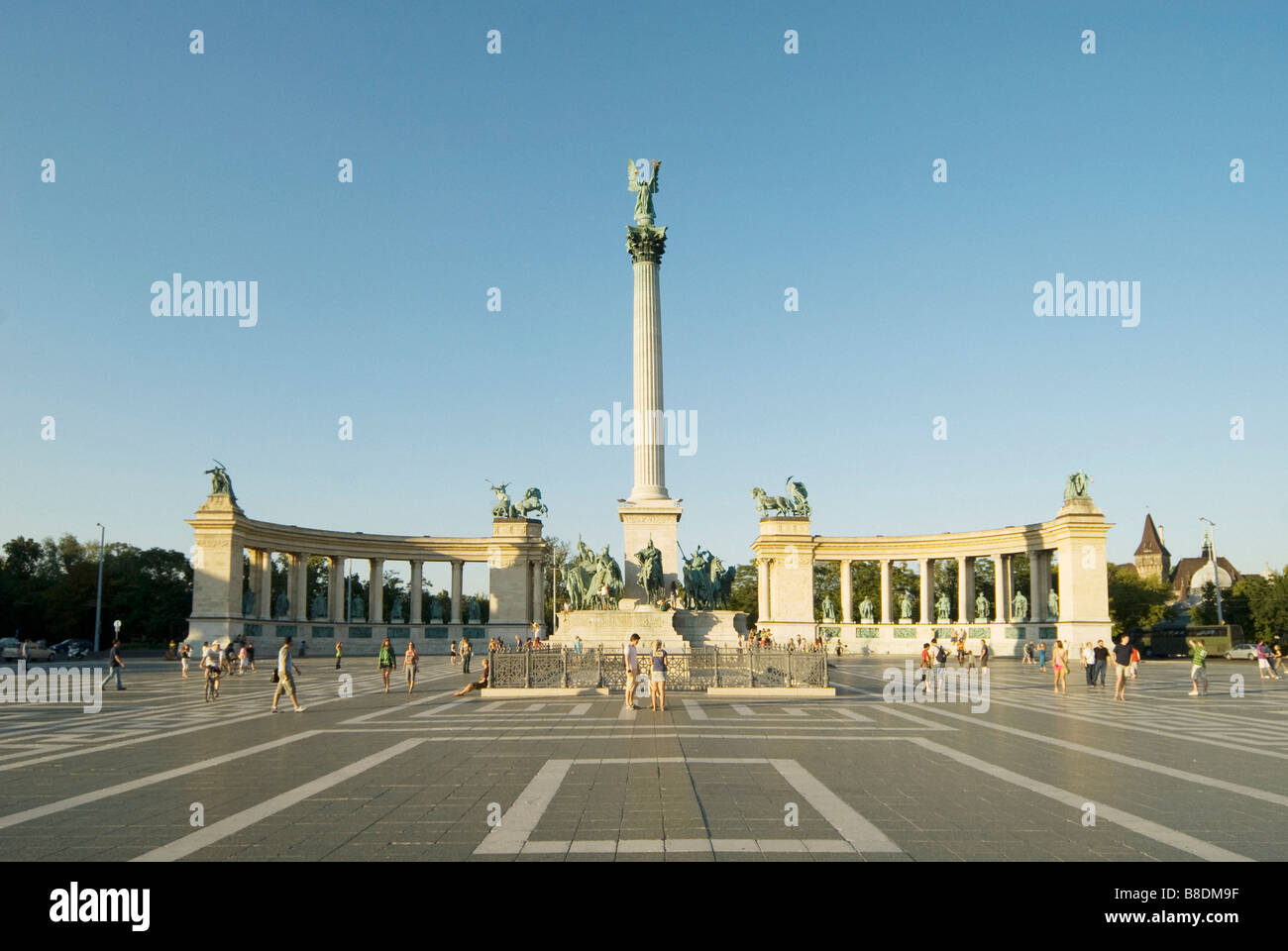 Heroes square budapest - Stock Image