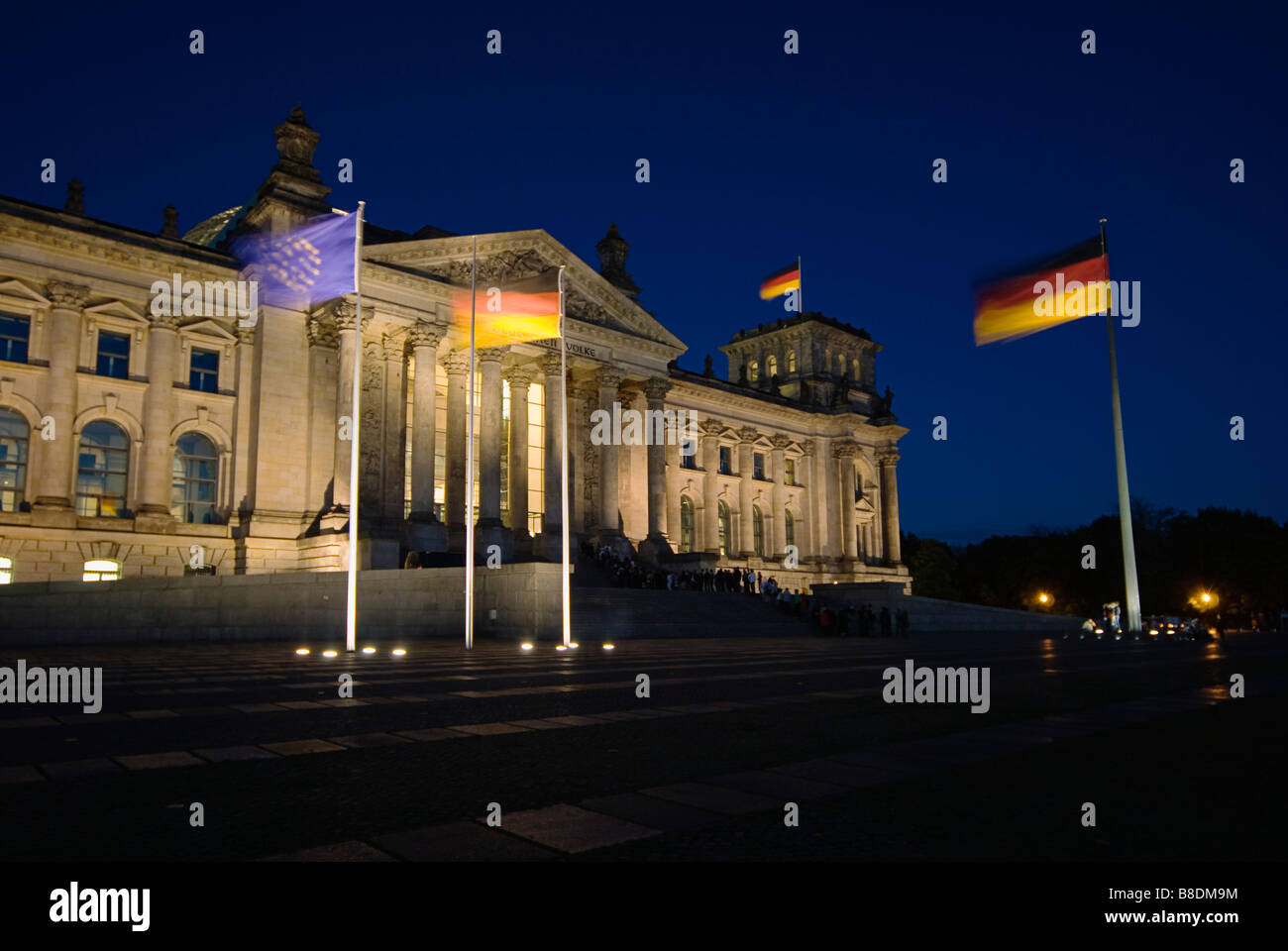 Reichstag building berlin - Stock Image