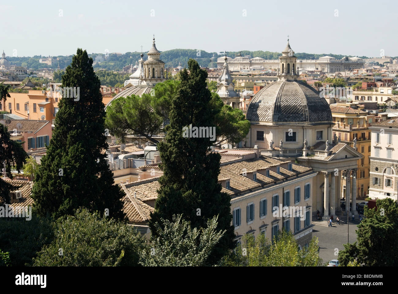 Churches in rome - Stock Image