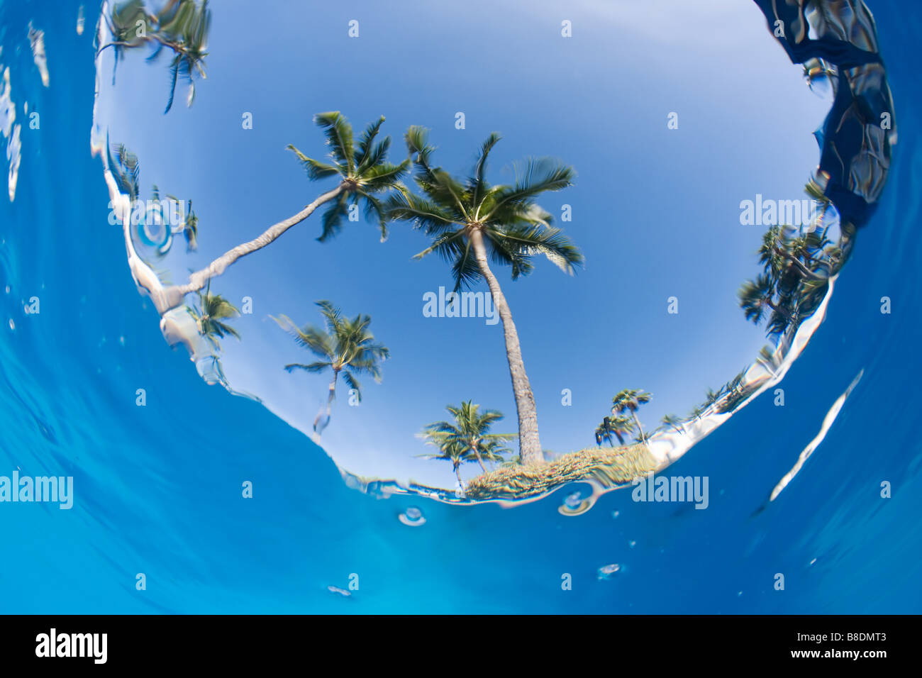 View from under the sea - Stock Image