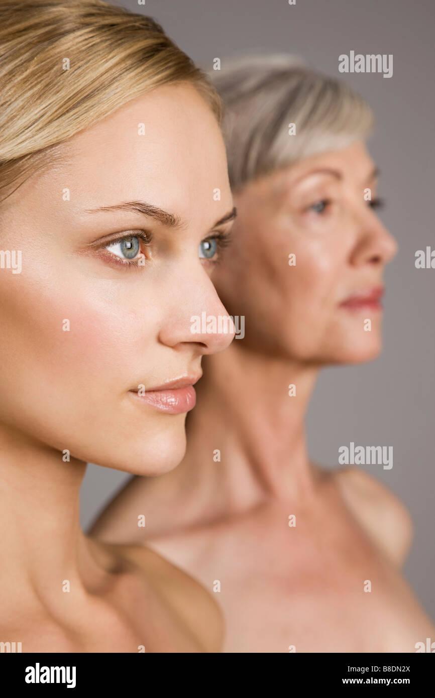 Women looking away - Stock Image