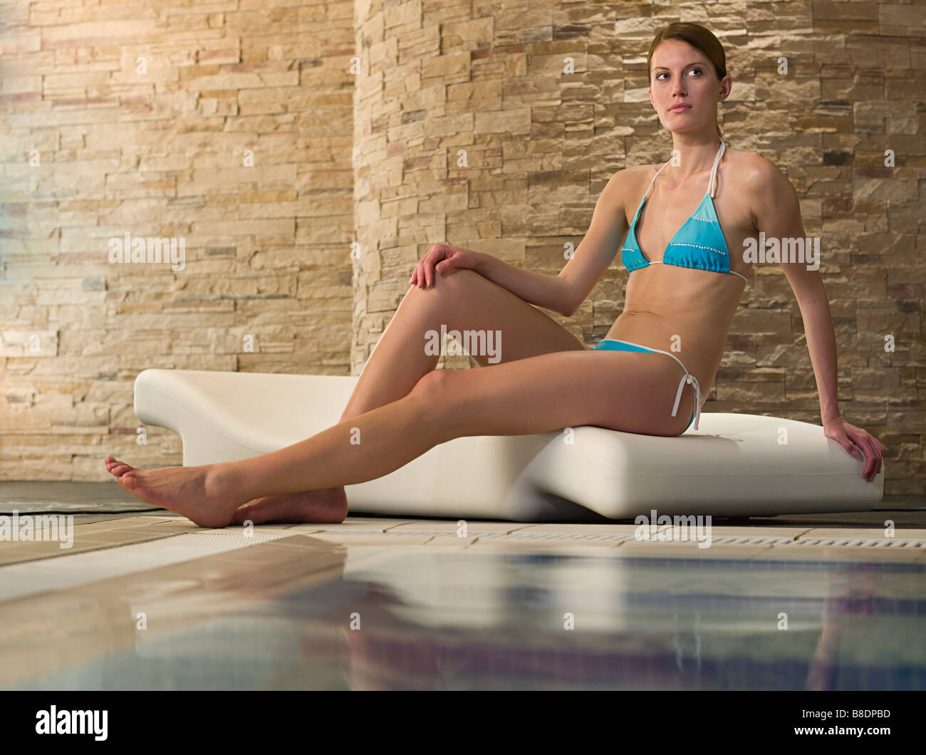 Young woman in a health spa Stock Photo