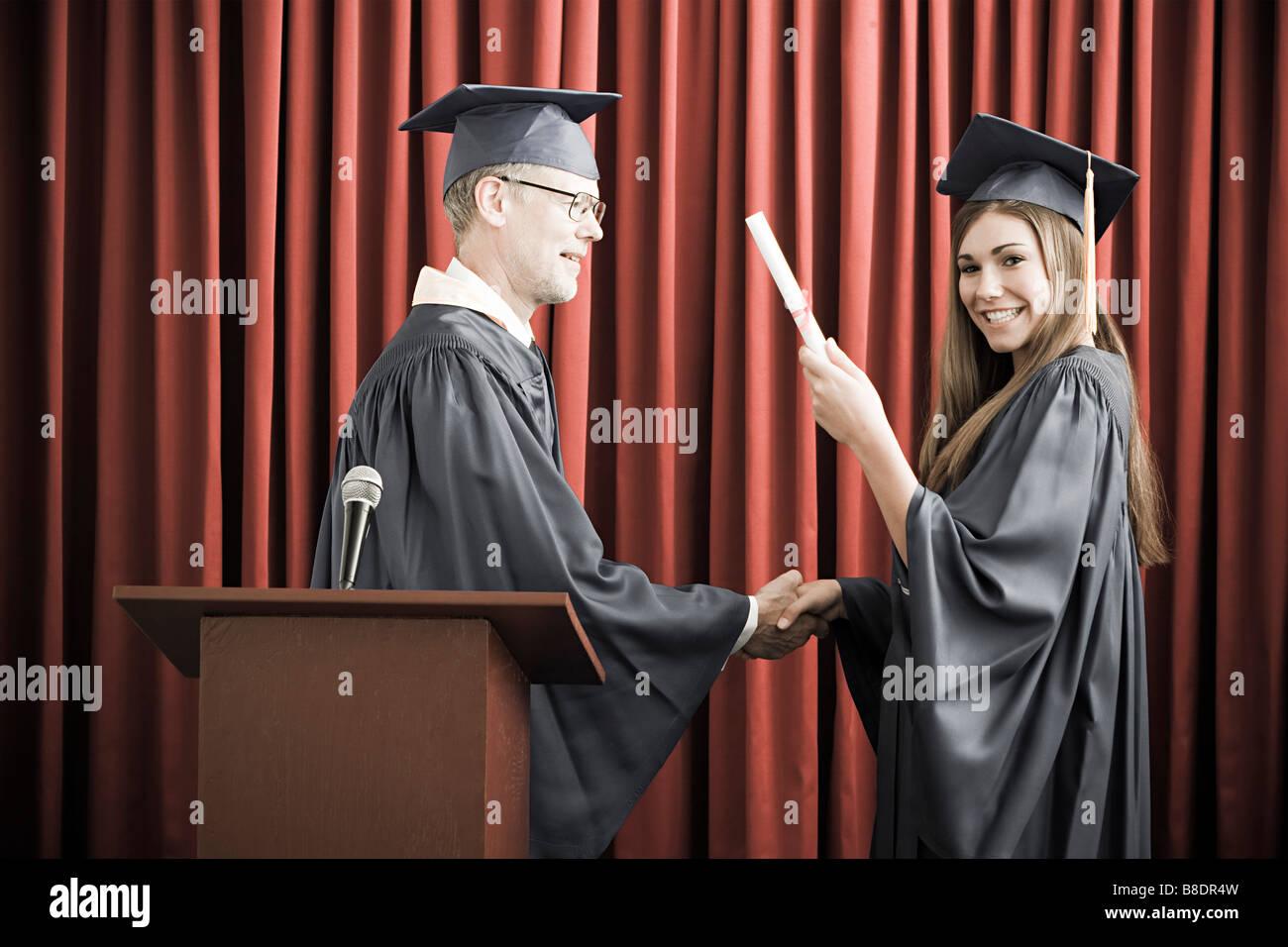 Girl graduating - Stock Image