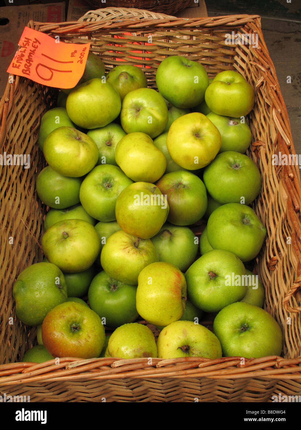 bramley apples - Stock Image