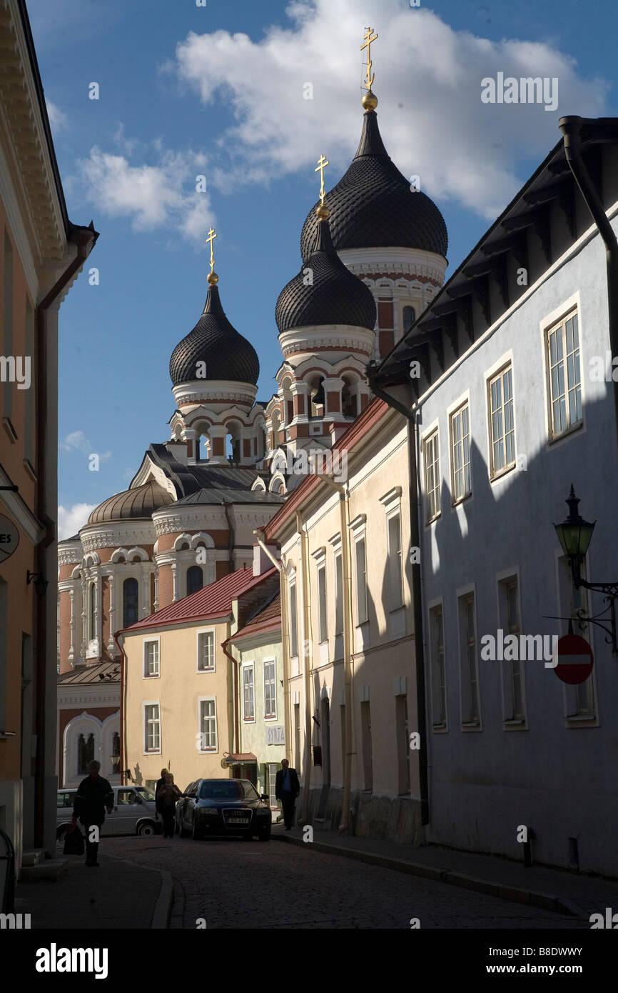 Tallin stolica Estonii Tallin the capital of Estonia - Stock Image