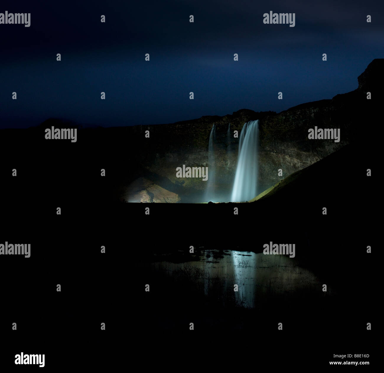 Seljalandsfoss Waterfall, Iceland - Stock Image