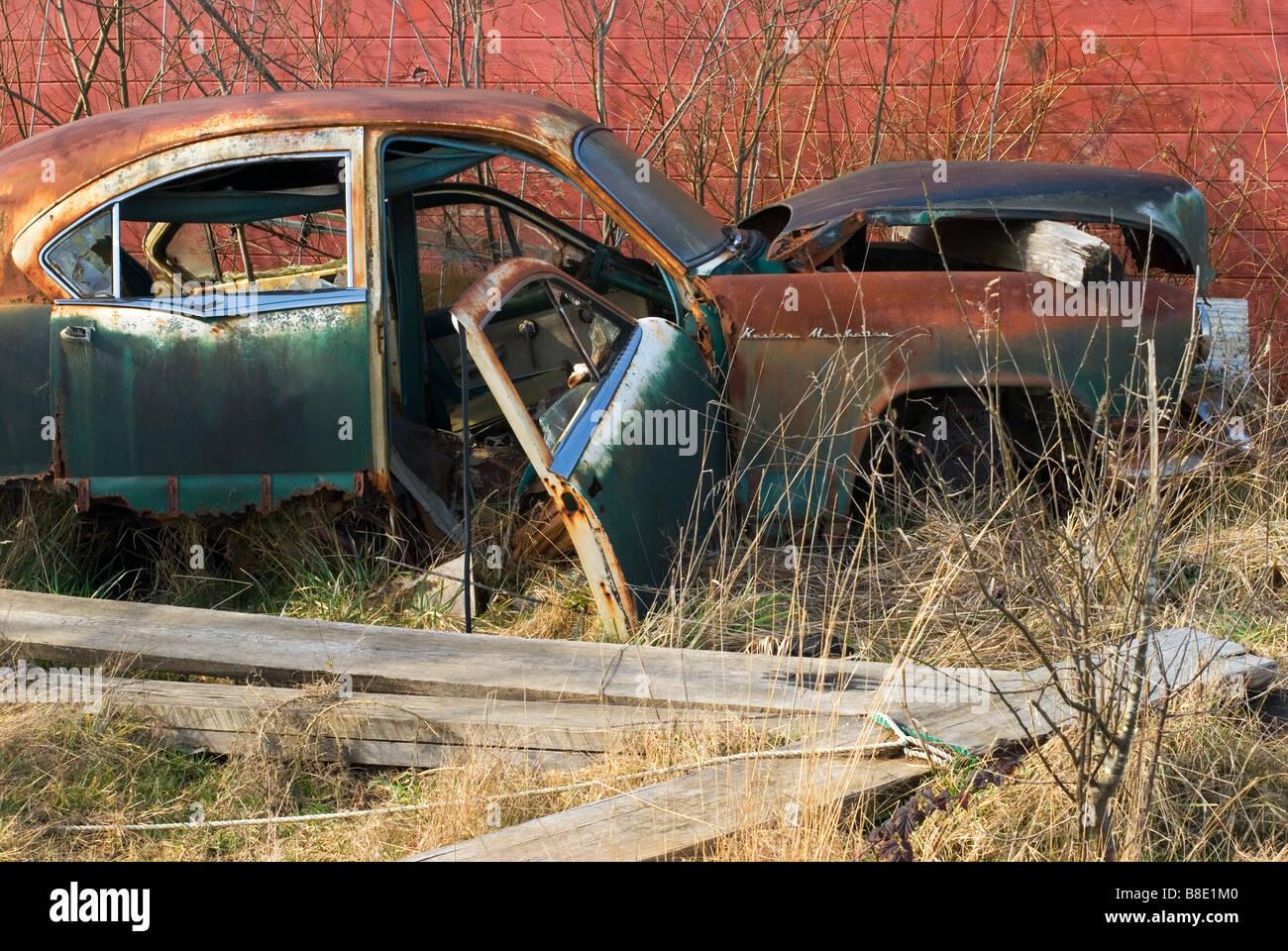 A car wreck. - Stock Image