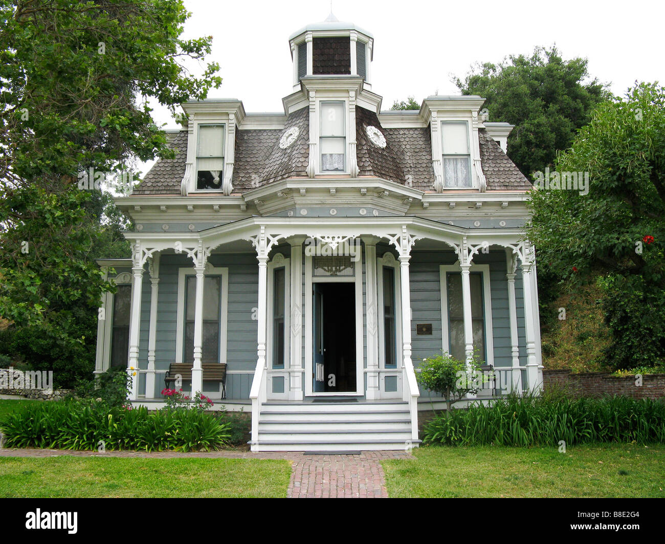 Historic Victorian House in Heritage Square Museum - Stock Image