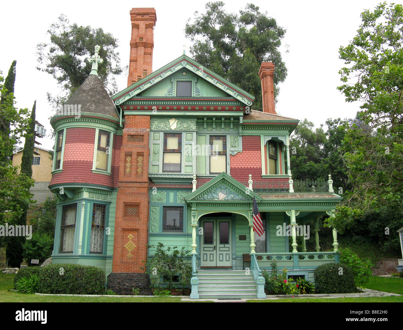Historic Victorian Home in Heritage Square Museum - Stock Image