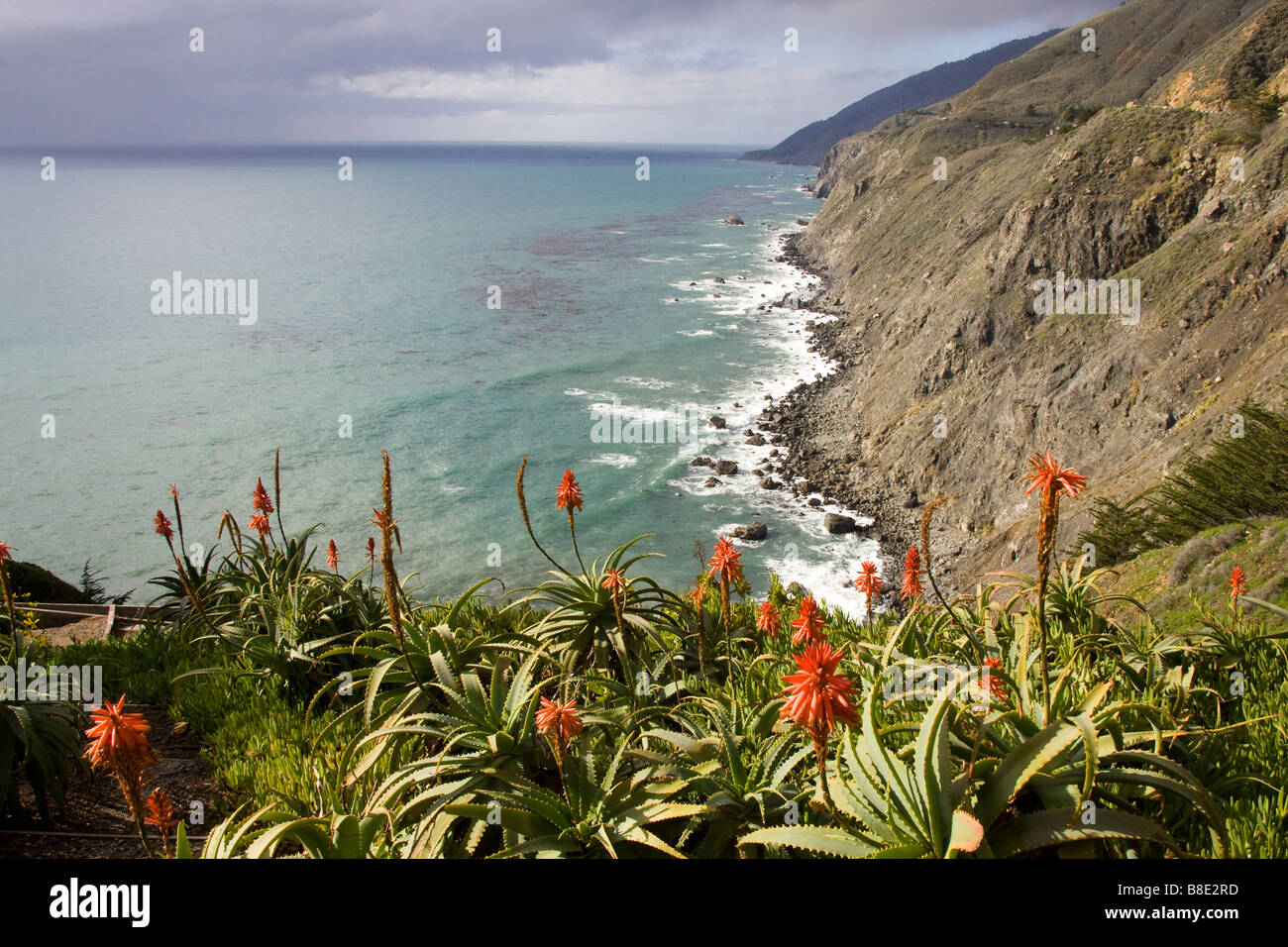 Ragged Point Pacific Coast Highway - Stock Image