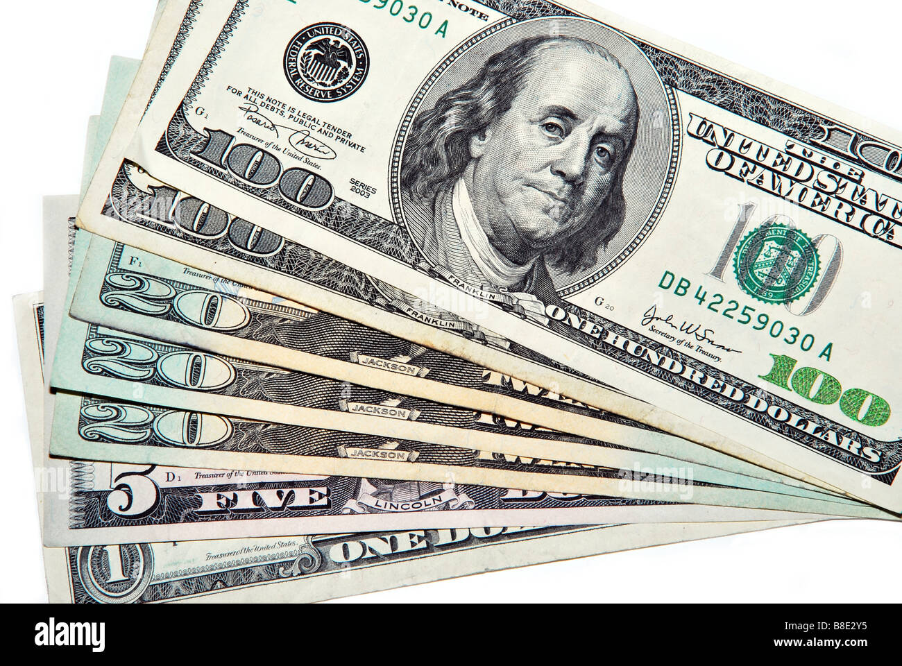 U.S. Currency - Stock Image