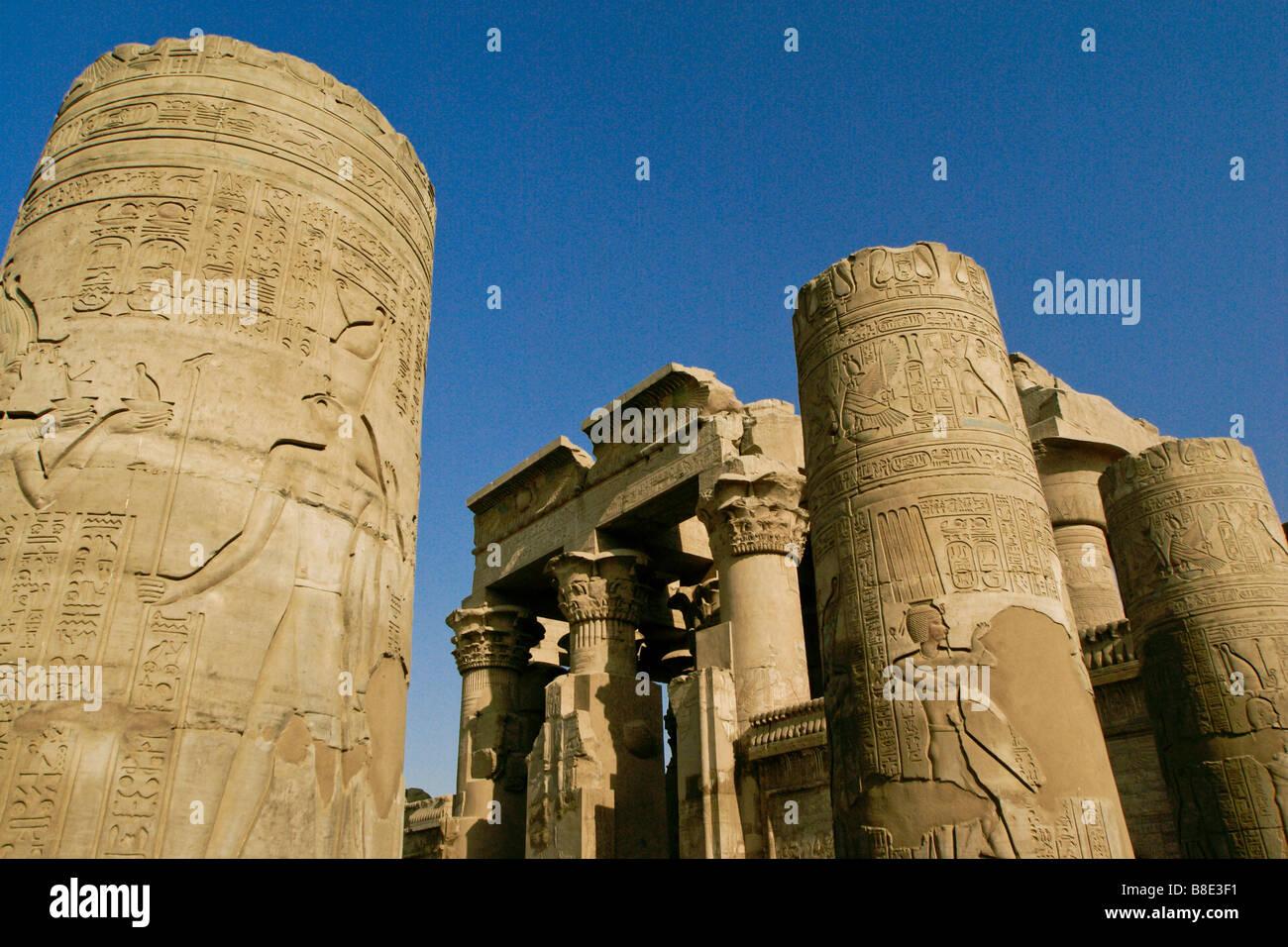 Kom Ombo Temple, Egypt Stock Photo