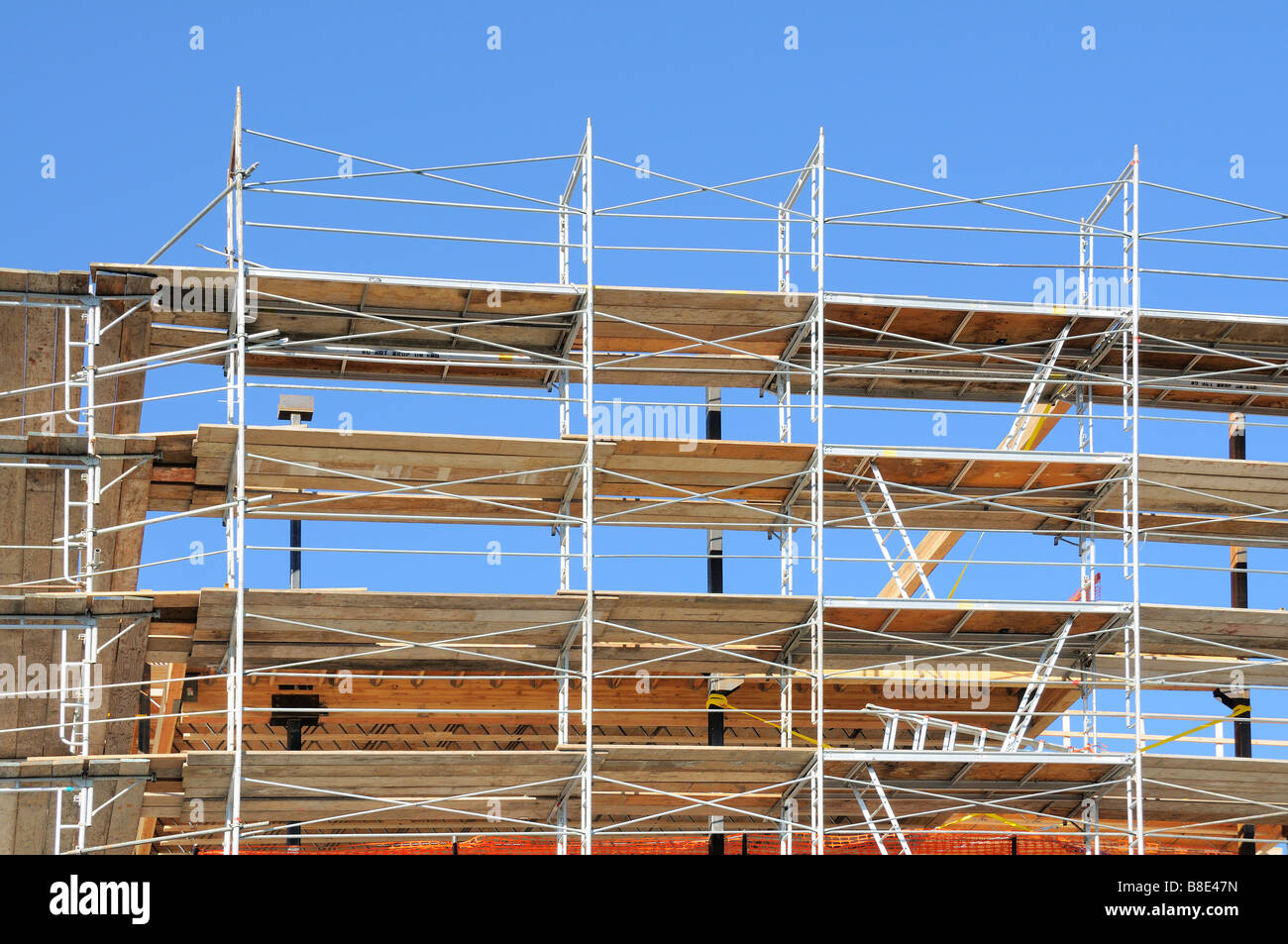 New Construction Scaffolding - Stock Image