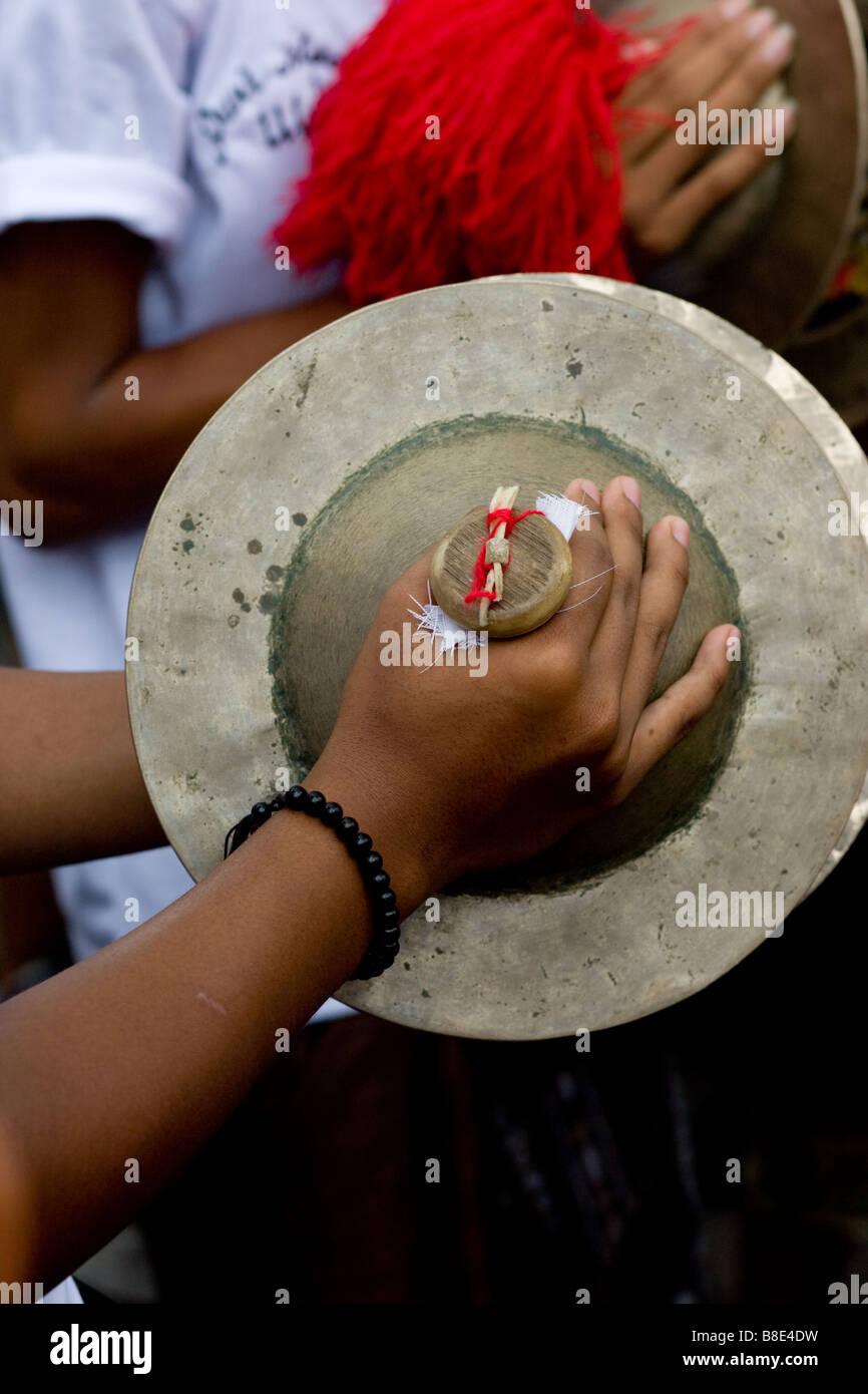 Purification ceremony taken in Ubud, Bali. - Stock Image