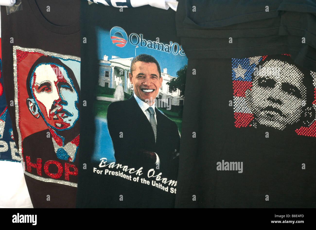 Barack Obama tee-shirts - Stock Image