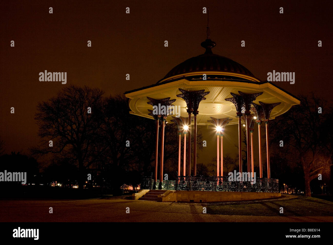 Clapham common bandstand, South London - Stock Image
