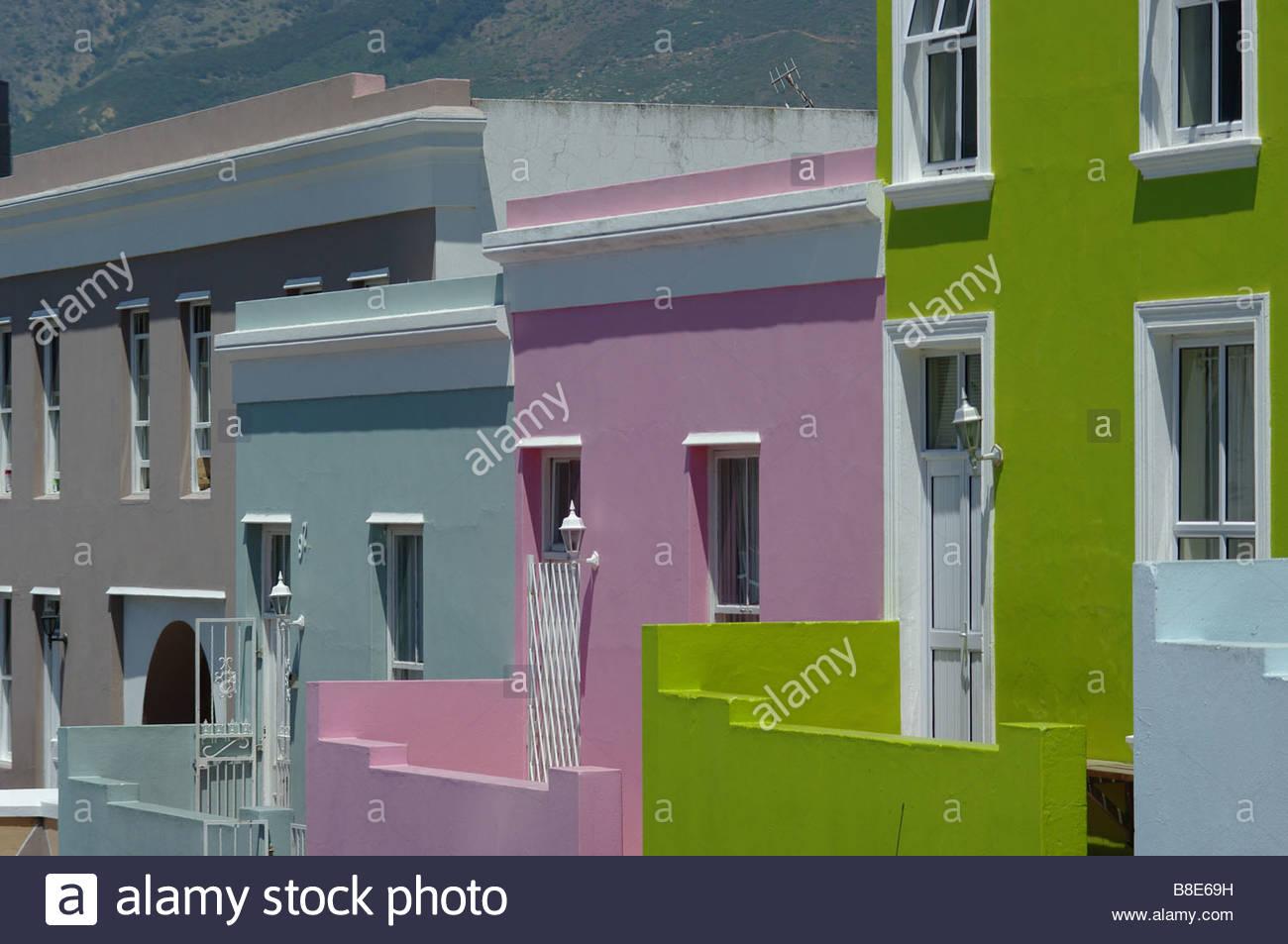 Bo Kaap Area Of Cape Town Houses Homes Painted Purple Mauve