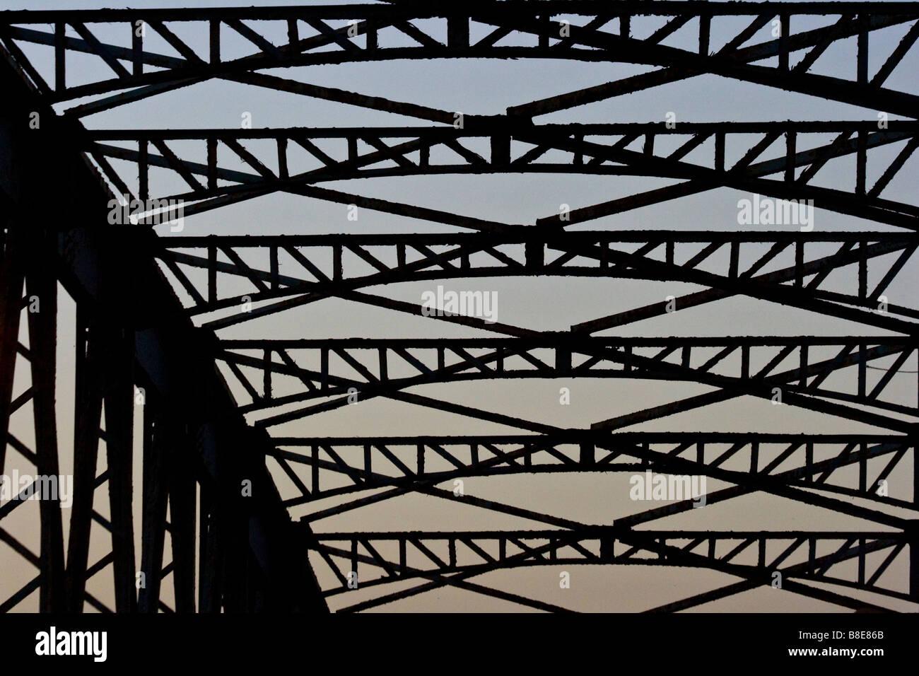 Faidherbe Bridge in St Louis in Senegal Africa - Stock Image