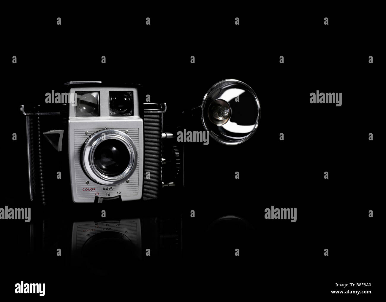 Old fashion film camera - Stock Image