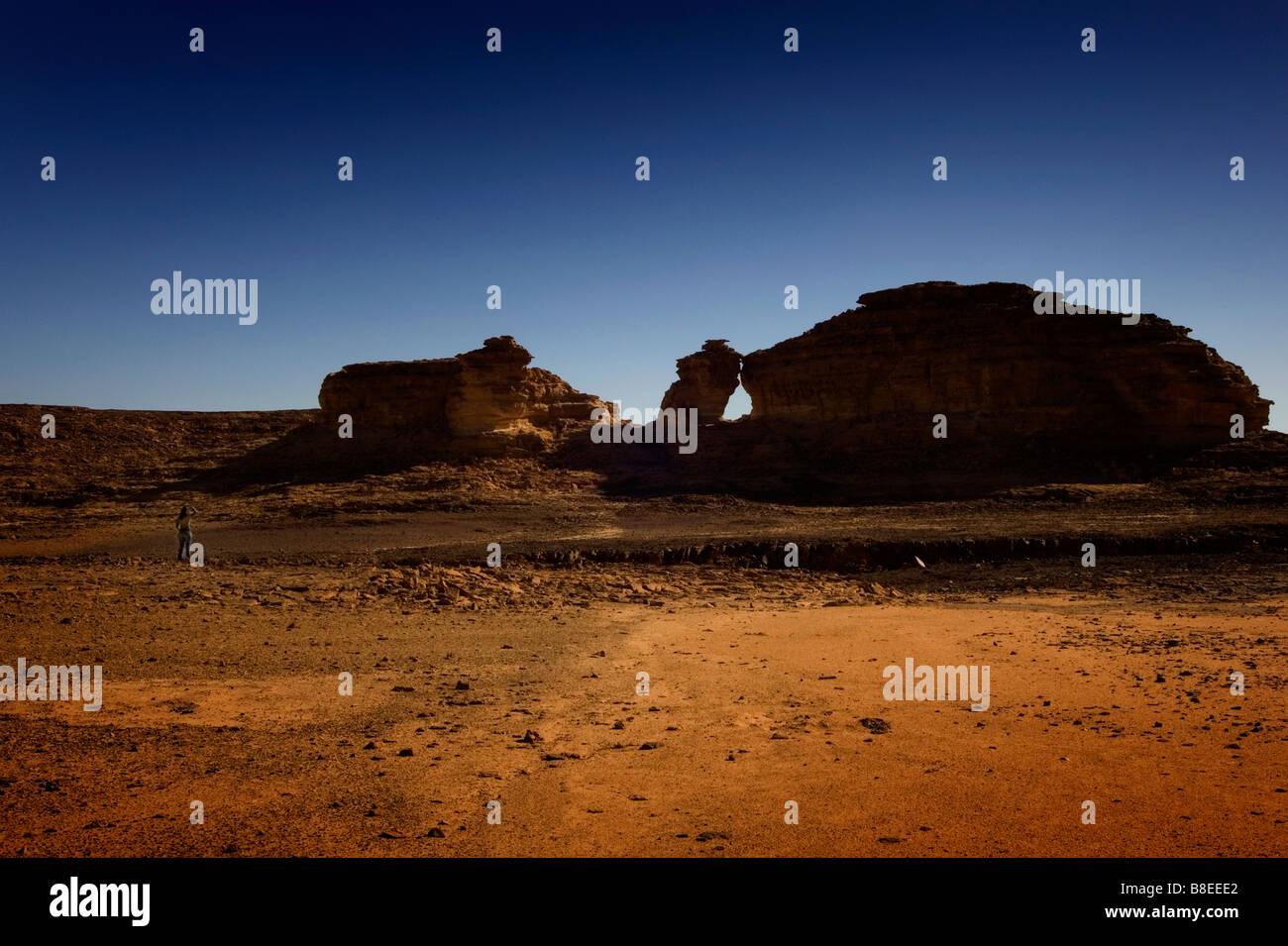 a desert landscape in Egypt - Stock Image