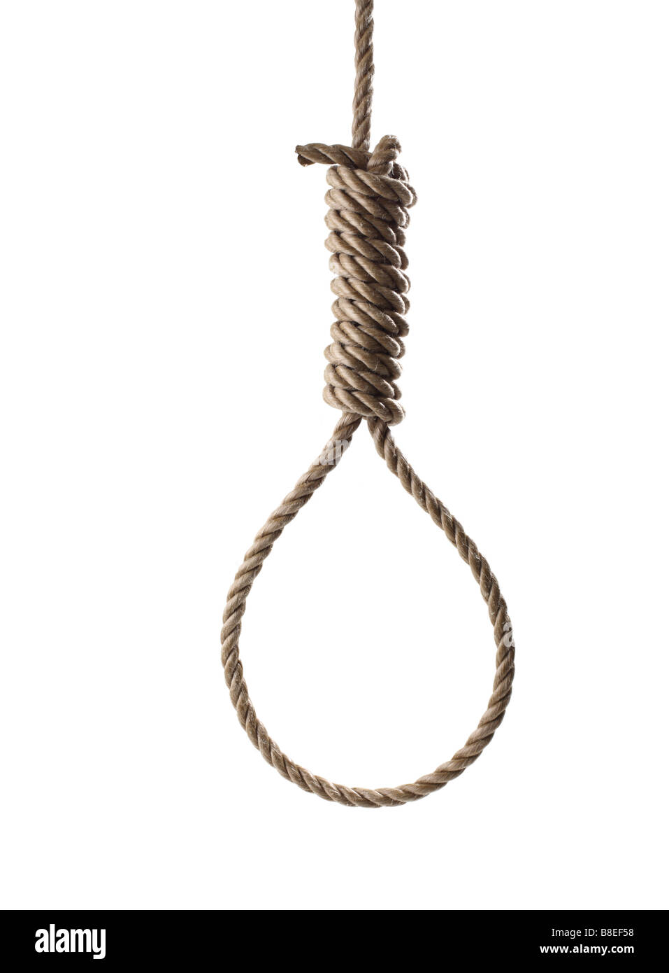 Rope in shape of a Hangman's Noose - Stock Image