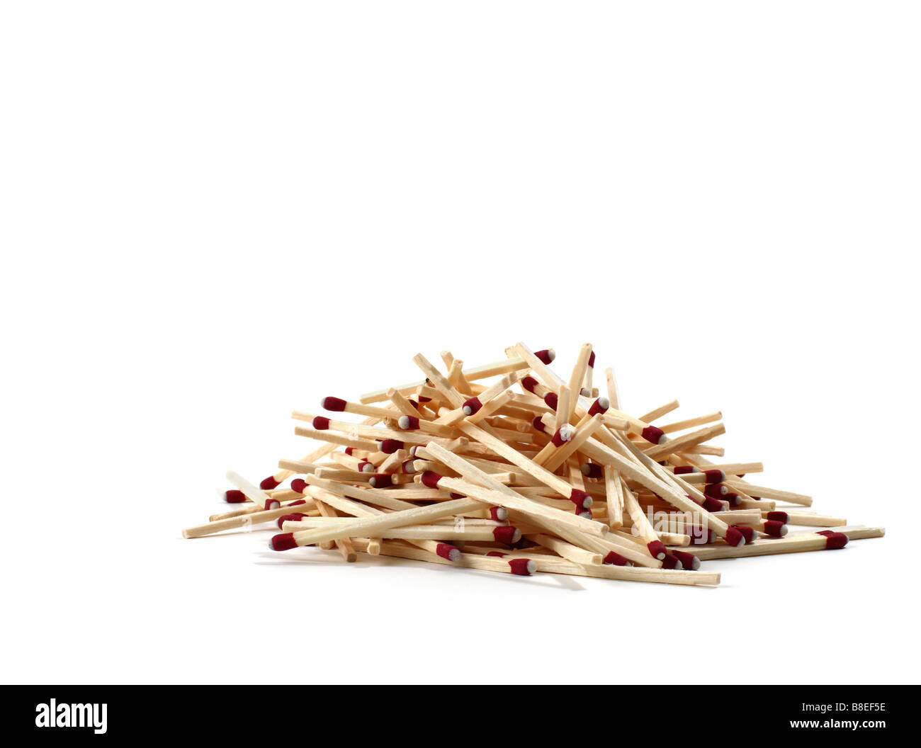 Pile of matchsticks - Stock Image