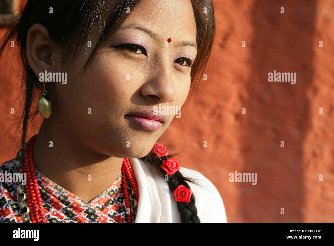 newari model - Stock Image